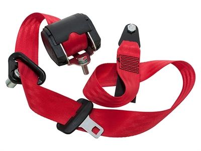 レッドシートベルトディフェンダー ステーションワゴン 1席Red Seat beltsDefender - station wagon single