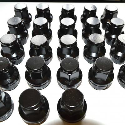 ブラックホイールナット 23個セット UK社外製 2020A W新作送料無料 アルミホイール用 BLACK D1 WHEEL ブラックホイールに最適CRR DEFENDERディフェンダー 激安通販販売 NUTS
