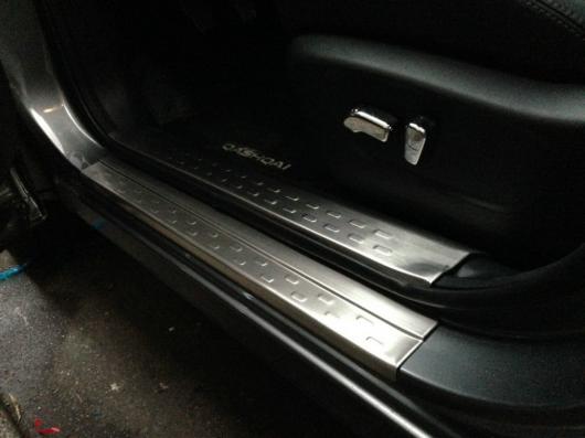 AL 車用メッキパーツ オートインテリアスカッフプレートプレートドア シル プレートペダル 日産 キャシュカイ2015 8ピース ロット タイプ C AL-AA-0653