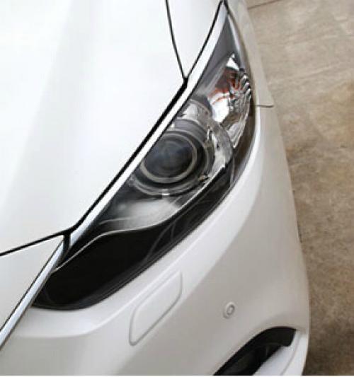 AL 車用メッキパーツ カー ヘッドライトカバー オートフロントライトトリム マツダ 6アテンザ2014 2015 ABS クロム 2ピース ロット AL-AA-0713