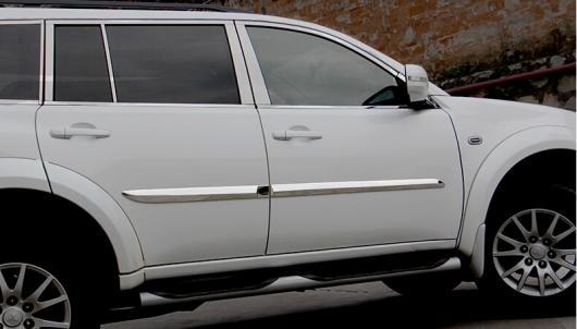 AL 車用メッキパーツ ステンレス スチール オート サイドドアトリム モールディング 三菱 パジェロ 2014 オートアクセサリー AL-AA-0763