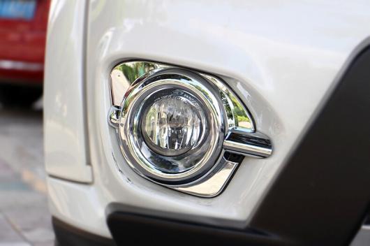 AL 車用メッキパーツ カー ヘッドフォグライトカバー オート フロントフォグライトトリム 三菱 パジェロ 2014 ABS クローム AL-AA-0765