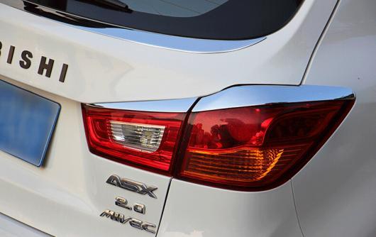 AL 車用メッキパーツ オートクロームアクセサリー リアライトカバー三菱 ASX 2013 2014 ABS クロム AL-AA-0770