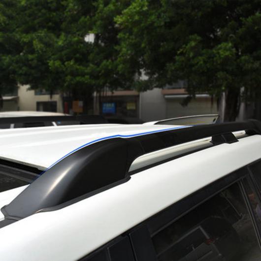 AL 車用メッキパーツ カーアクセサリー ブラック 色アルミニウム合金ルーフレールバールーフラックキャリア荷物セットフレーム ランド クルーザー LC200 2008-2016 AL-AA-1143