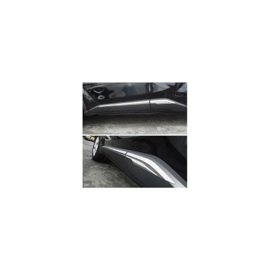 AL 車用メッキパーツ カーアクセサリー トヨタ C-HR CHR 2016 2017 ABS クロームサイドドアラインボディ モールディング ストリップガーニッシュモールディングトリムカバートリム4ピース セット AL-AA-1188