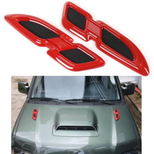AL 車用メッキパーツ オートサイドフェンダーエンジンフードエアフローベント カバー トリムクローム ABS インテリア外装 スズキジムニー2007-2017アクセサリー 選べる3カラー ブラック,レッド,シルバー AL-AA-1212
