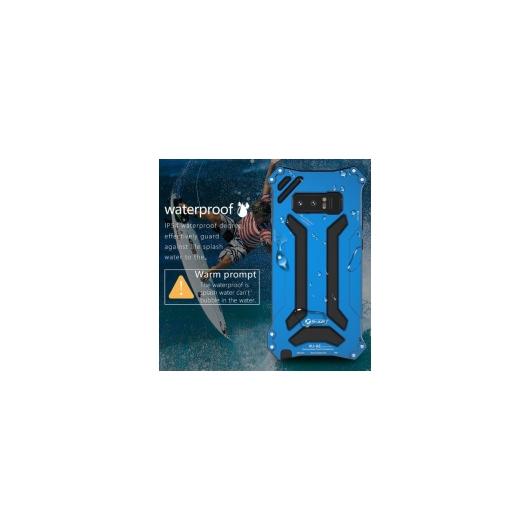 AL スマートフォンケース リアルメタル ケース サムスン Galaxy Note8 6.3シリコン次 カバー 3防御 衝撃吸収 携帯電話シェル 選べる3カラー ブラック,ブルー,ゴールド AL-AA-1299