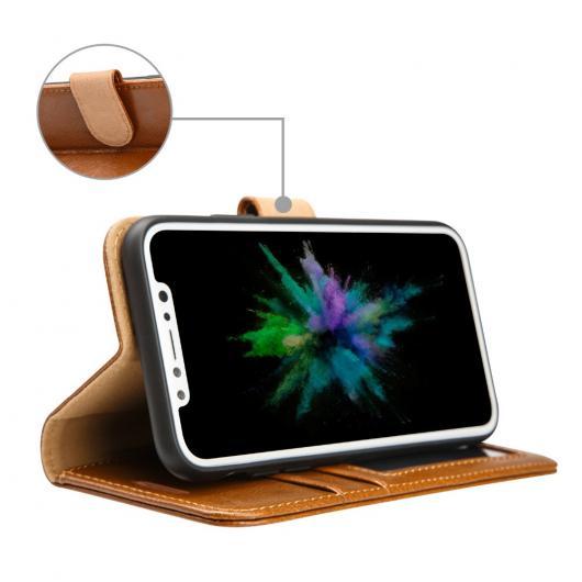 AL スマートフォンケース ウォレット ケース iPhone X カバー レザー フォリオ フリップ ピュアカラー携帯電話 Xカードスロット 選べる2カラー ブラック,ブラウン レザー AL-AA-1478