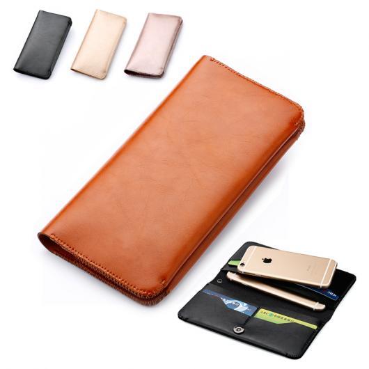 """AL スマートフォンケース スリーブポーチバッグ ケース カバー ウォレット フリップ スタイル iPhone 8 8Plus 4.7 5.5インチ X 5.8"""" 選べる2カラー ブラック,ブラウン マイクロファイバー AL-AA-1508"""
