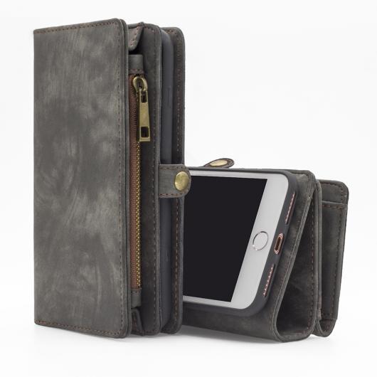 AL スマートフォンケース iPhone 7 7Plus プラス ケース ウォレット マグネット カードホルダー レザー フリップ 2in1 取り外し可能 カバー 選べる3カラー 選べる2適用品 iPhone7,iPhone7Plus AL-AA-1524