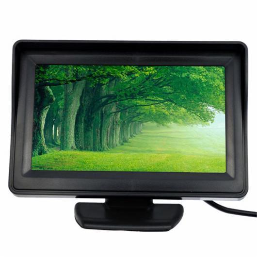 AL カー用品カメラ TFT 4.3インチオートバックミラー パーキング モニター+ 7 LED ナイトビジョンCCDリアビュー オート パーキング カメラ カー ミラーモニター AL-AA-1635