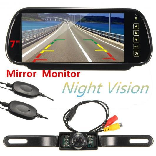 AL カー用品カメラ HD 7インチTFT液晶ディスプレイ1024*600 カー ミラーモニターMP5 USB SDワイヤレスリアビューカメラ パーキング システム AL-AA-1660