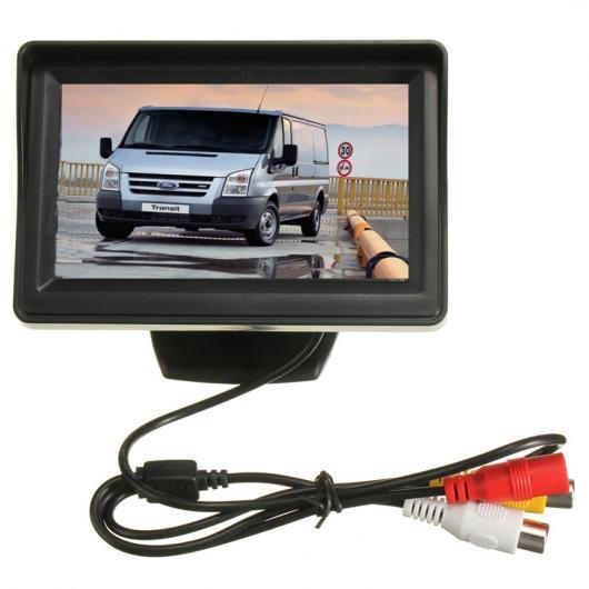 AL カー用品カメラ CCD HD カー リアビューカメラ カー CCD 4.3インチモニターバックミラー リバース カメラキット トランジット 接続 AL-AA-1664