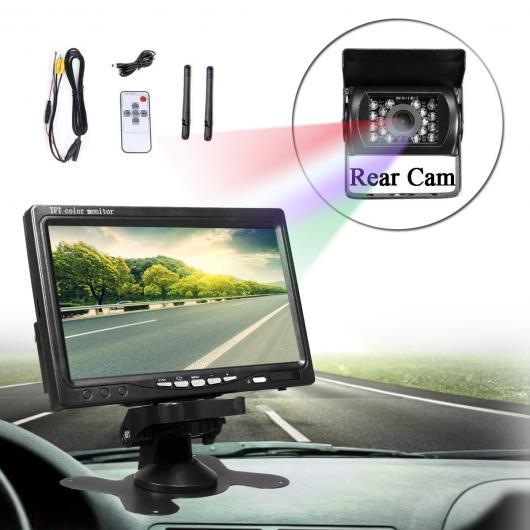 AL カー用品カメラ ワイヤレス7 ″液晶モニター カー バス 防水 赤外線 +アビューバックアップカメラカムナイトビジョン AL-AA-1690