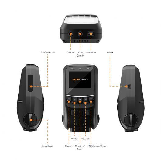 AL フルHD 1080P 車載カメラ DVR C550オートカードライブビデオ レコーダー カメラ デュアルレンズビデオカメラNOVATEK NTK96655 AL-AA-1744