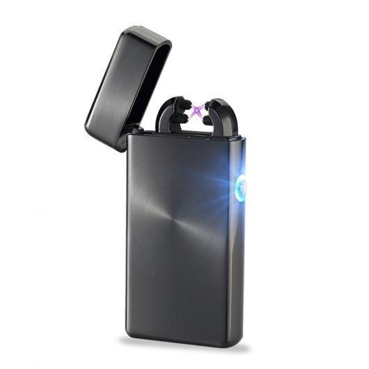 AL USBライター ダブルプラズマアークUSBシガーライター電子 シガー防風喫煙・エレクトロニクスガジェット 選べる2カラー ブラック,シルバー AL-AA-2010