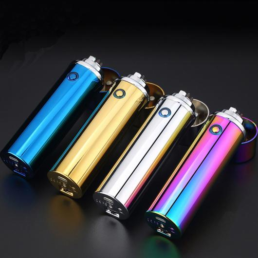 AL USBライター 高グレード 6アーク ライターカラー電子充電式サイドスイッチトーチシガーライター USBライター 喫煙 109 選べる5カラー ブラック,ブルー,ゴールド,シルバー,ライトパープル AL-AA-2099