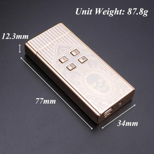 AL USBライター 防風電子ライター充電パスワード コントロール アークUSB充電電気プラズマパルス 煙パイプタバコ 選べる2カラー カラー1,カラー2 AL-AA-2101