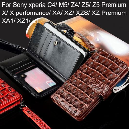 AL スマートフォンケース Xperia C4 Z4 Z5 XZ XA X XPerformance Z5Premium XZ1 XZPremium XZs XA1 ラグジュアリー ワニヘビ レザー フリップ カバー ウォレット ケース 選べる3カラー 選べる12適用品 AL-AA-2130