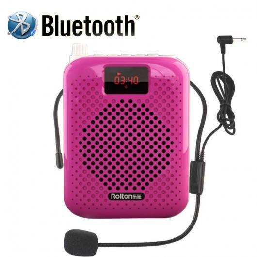 AL スピーカー Bluetooth スピーカー マイク 音声 アンプ ブースター メガホン サポートFMラジオTFCARD MP3プレーヤー 選べる5カラー ブラック,ブルー,ローズゴールド,ローズレッド,レッド×ブラック AL-AA-2188