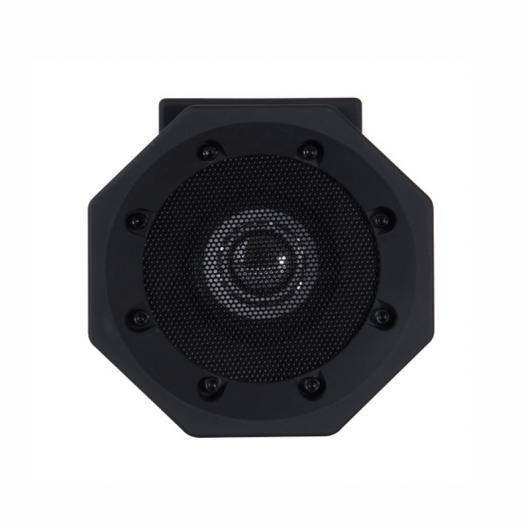 AL スピーカー ブームボックスタッチ スピーカー ポータブル 誘導 ワイヤレス メガホン 接続不要 簡単プレイ 選べる2カラー ブラック,ホワイト AL-AA-2201