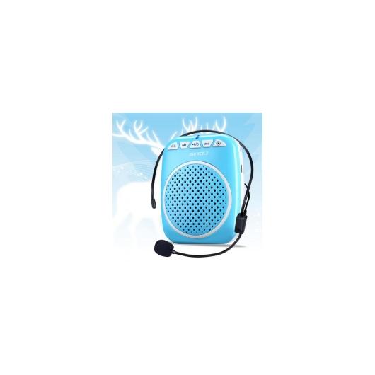 AL スピーカー ポータブル スピーカー 音声 アンプ ミニ ツール 教育ツアーガイドセールス メガホン 選べる2カラー ブルー,ローズゴールド AL-AA-2194