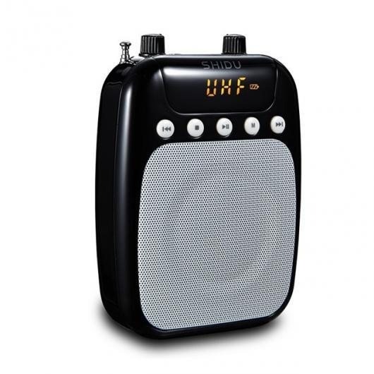 AL スピーカー スピーカー Bluetooth UHF ワイヤレス マイク アンプ メガホン 音声 プレゼンテーション コーチ ブラック AL-AA-2183