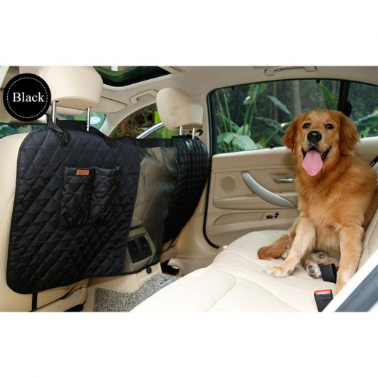 AL ペット用品 デラックス カー 旅行 犬 カーシートフェンス安全バリア フェンス後列シート安全分離ネット 保護 選べる3カラー ブラック,グレー,ベージュ AL-AA-2696