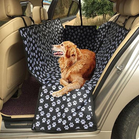 AL ペット用品 カー シート カバー PVC防水コーティングフットプリント バック ベンチ折りたたみオックスフォード生地 SUV 犬 ベッド AL-AA-2705