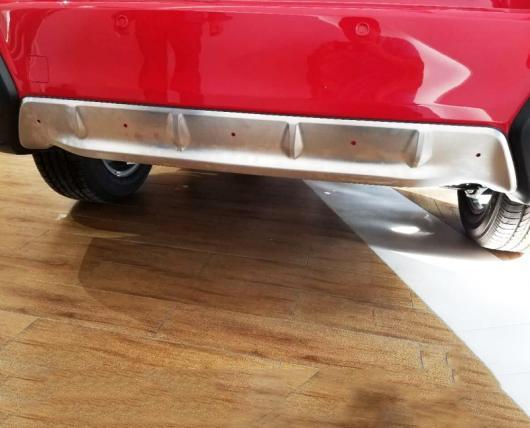 AL 車用メッキパーツ ステンレス スチール フロント リア バンパースキッド ガードプレート カバー フレーム2ピース スバル XV GT3 GT7 2017 2018 AL-AA-2739