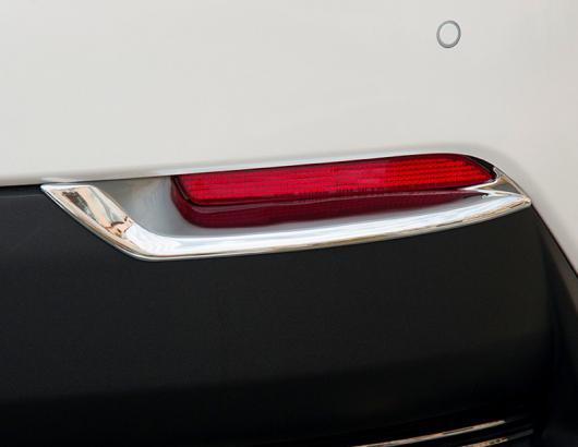 AL 車用メッキパーツ クローム リア フォグ ライト フレーム デコレーション カバー スパンコール ABS カー テール ストリップ レクサス NX300h 200 エクステリア AL-AA-2790
