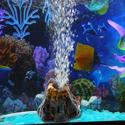 AL アクアリウム 火山形状 水族館 水槽 酸素ポンプ エア バブル石 エア ポンプドライブ 水槽 玩具 水族館 オーナメント カラー1 L AL-AA-2897