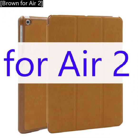 AL iPadケース ケース iPad Air 2 マット PUレザー スマート カバー フリップ オートスリープ ウェイクアップ [Brown for Air 2] AL-AA-3169