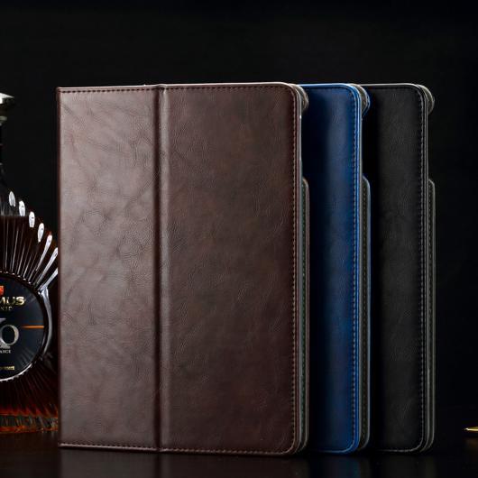 AL iPadケース 高級 レザー ケース スタンド カードスロット保護スキンラップトップバッグ iPad Air 2 カバー 選べる2カラー ブラック,ブルー AL-AA-3221