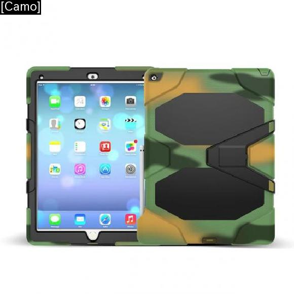 AL iPadケース 3in1 ハイブリッドプラスチック+シリコン 衝撃吸収 デュアルレイヤー 背面 カバー ケース iPad Pro [Camo] AL-AA-3298
