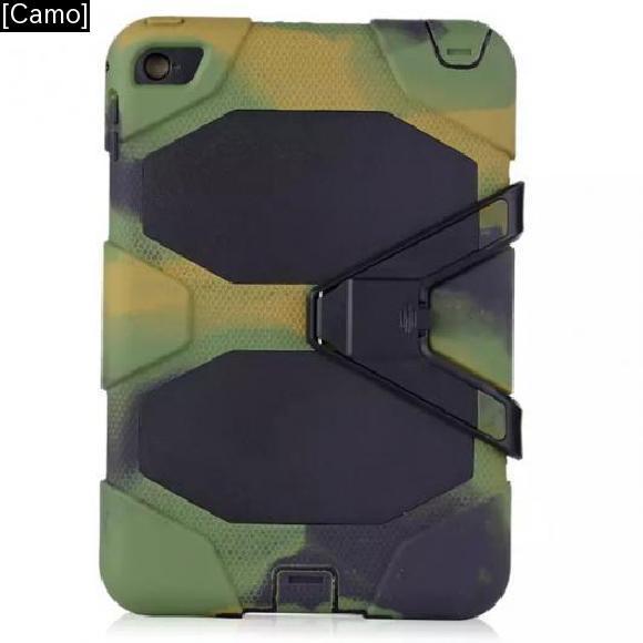 AL iPadケース 3in1 ハイブリッドプラスチック+シリコン 耐衝撃 二層 堅牢 アーマー 背面 カバー ケース iPad mini 4 [Camo] AL-AA-3302