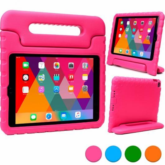 AL iPadケース 子供 ケース iPad Air ピンク 軽量 衝撃吸収子 EVA発泡 内蔵ハンドル 視聴スタンド 選べる5カラー ブルー,グリーン,オレンジ,パープル,ピンク AL-AA-3309