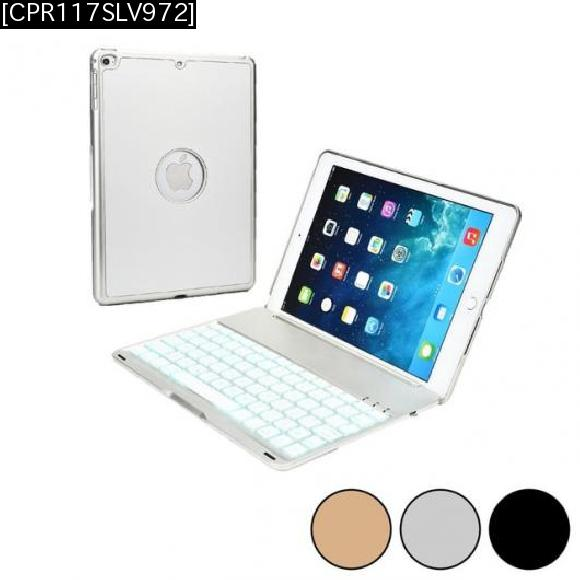 AL iPadケース キーボードアルミ ワイヤレス USBマイクロ iPad Air 2 ケース Bluetooth 3.0 バックライト [CPR117SLV972] [10-inch] [[10-inch] AL-AA-3322