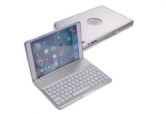 AL iPadケース バックライト付きクラムシェル Air 9.7 ケース キーボード シルバー ワイヤレス アルミメタリカ タブレット Bluetooth 選べる2カラー ブラック,シルバー AL-AA-3326