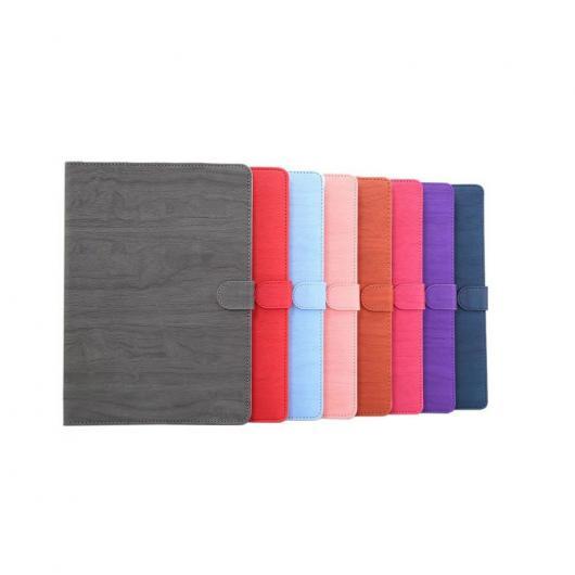 AL iPadケース iPad Pro 9.7 木製パターンレザー タブレット アクセサリー カバー スタンド 機能 選べる8カラー レッド,ブルー,パープル,ピンク,グレー,ブラウン,ローズ,ライトブルー AL-AA-3419