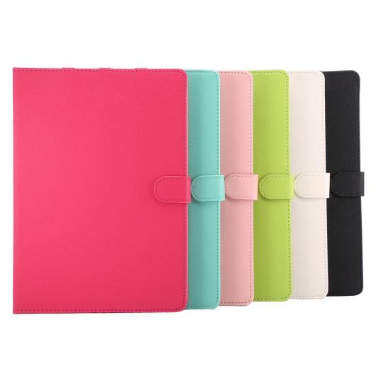 AL iPadケース iPad Air 2 iPad 6 9.7インチ 保護シェル PUレザー 衝撃吸収 固体折りたたみ フォリオ 選べる4カラー ブラック,ホワイト,ピンク,ローズレッド AL-AA-3481
