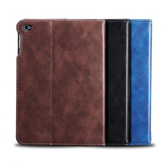 AL iPadケース iPad mini 4 防塵 ピック ラグジュアリー PUレザー スタンド 7.9インチ タブレット カバー 選べる3カラー ブラック,ブルー,ブラウン AL-AA-3525