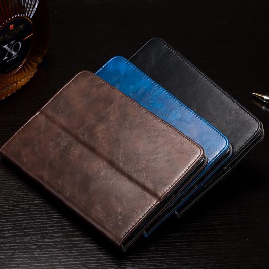 AL iPadケース タブレット カバー iPad mini 4 ラグジュアリー PUレザー 保護カード ホルダー 7.9インチ 選べる3カラー ブラック,ブルー,ブラウン AL-AA-3572