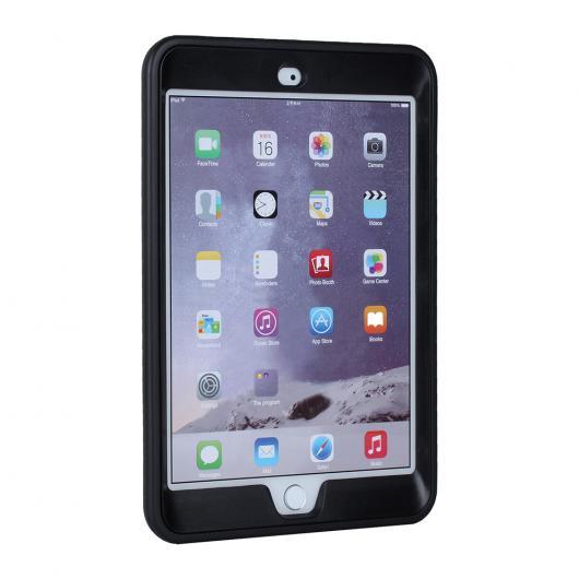 AL iPadケース 保護シェル iPad mini 1/2/3 ピック 防塵 ソフト シリコン7.9インチ タブレット カバー 選べる3カラー ブラック,パープル,ローズレッド AL-AA-3601