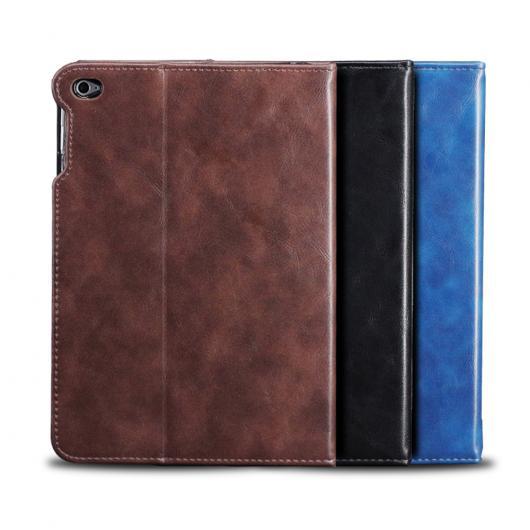 AL iPadケース iPad 2/3/4 マグネット ラグジュアリー PUレザー ウォレット フリップ カード ホルダー 9.7インチ タブレット カバー 選べる3カラー ブラック,ブルー,ブラウン AL-AA-3614