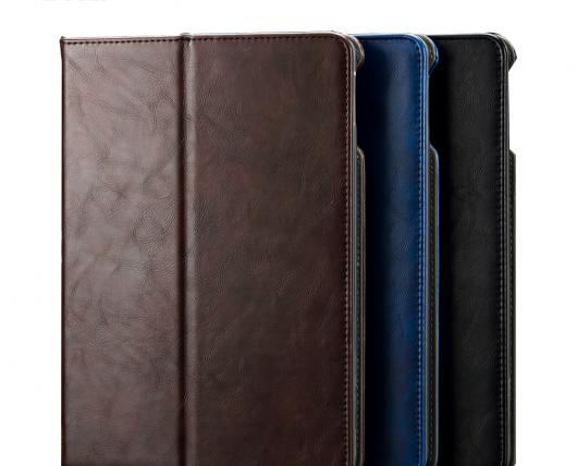 AL iPadケース iPad 2/3/4 防塵 ラグジュアリー マグネット PUレザー フリップ カード ホルダー 9.7インチ タブレット カバー 選べる3カラー ブラック,ブルー,ブラウン AL-AA-3616
