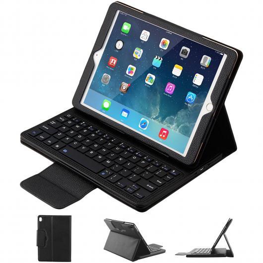 AL iPadケース キーボード iPad 9.7 2017 Air 1/2 2017 9.7 PUレザー マグネット カバー Bluetooth 選べる5カラー ブラック,ホワイト,レッド,ブルー,ピンク AL-AA-3700