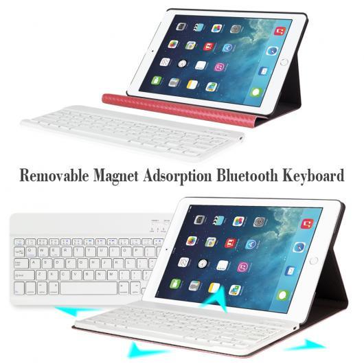 AL iPadケース iPad Air 1/2 キーボード カーボンファイバー PUレザー カバー 取り外し可能 Bluetooth 9.7インチ グループ2 選べる4カラー ゴールド,ダークブルー,ライトブルー,ローズゴールド AL-AA-3722
