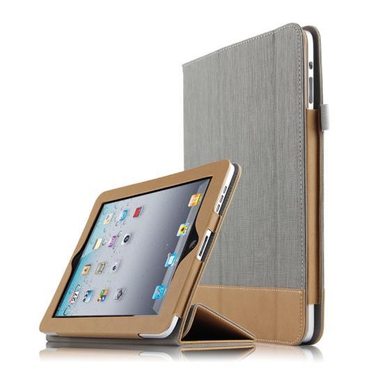 AL iPadケース iPad 1 カバー 保護 テクター レザー PU タブレット A1337 A1219スリーブ 選べる3カラー ブラック,ブルー,グレー AL-AA-3746