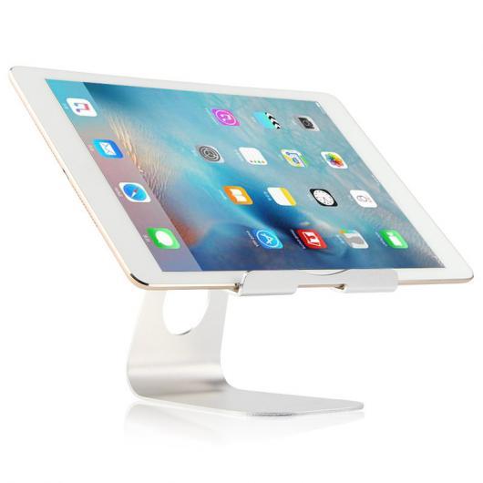 AL iPadスタンド タブレット PC iPad 9.7インチ メタル ステント サポート 2017 9.7 デスクトップ アルミ合金 ケース 選べる2カラー シルバー,ローズゴールド AL-AA-3760